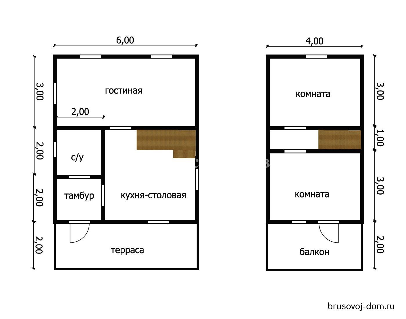 Дом под усадку 6х9 м Кингисеп