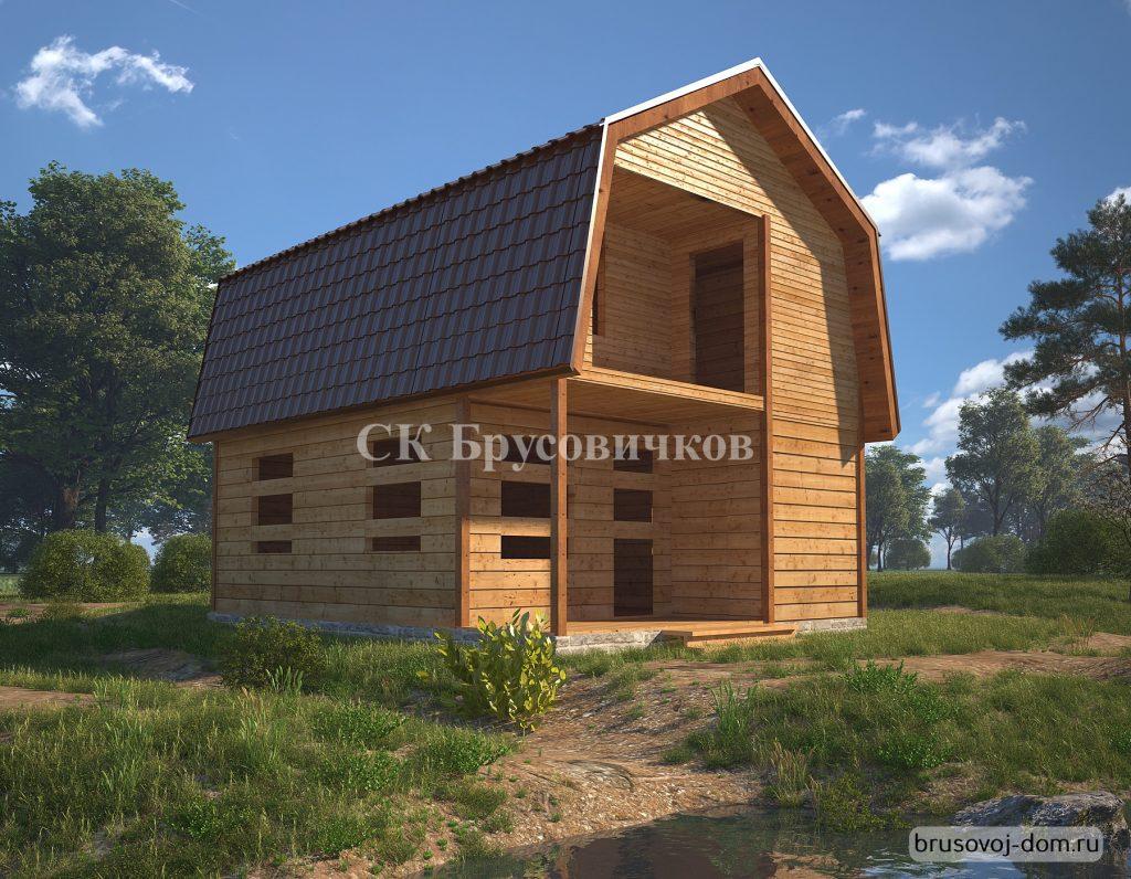 Дом под усадку 6х8 недорого Ломоносов