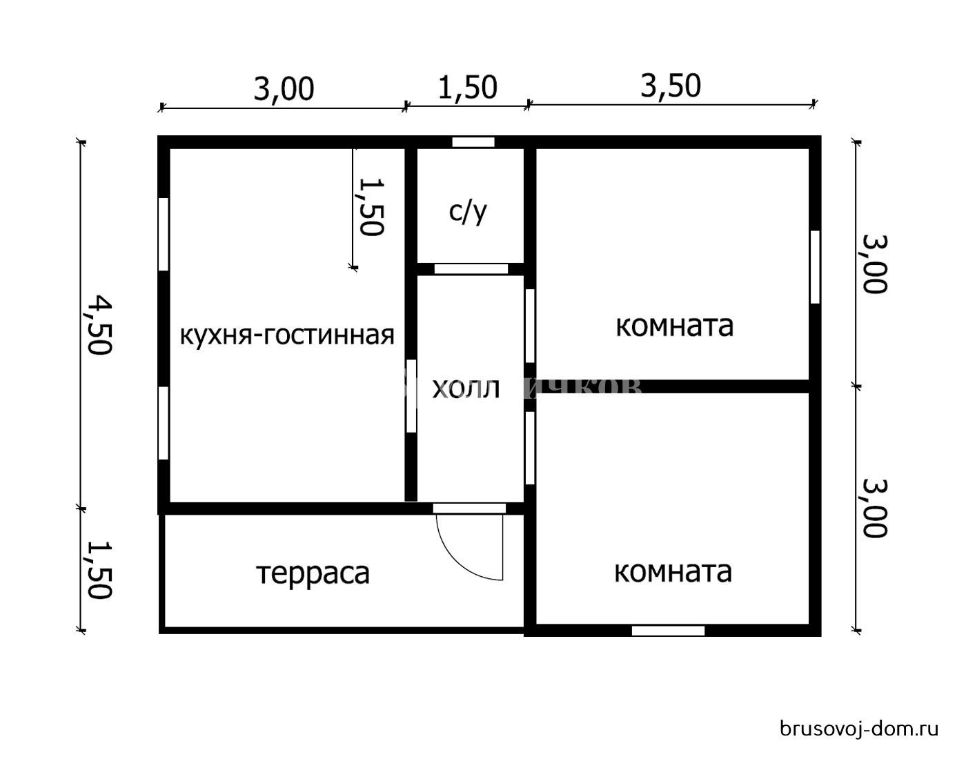 Дом под усадку Любань 6х8 м