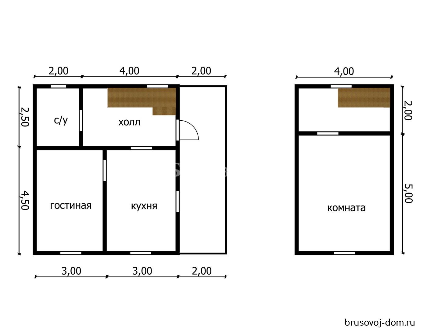 Дом под усадку 7х8 м Мурино