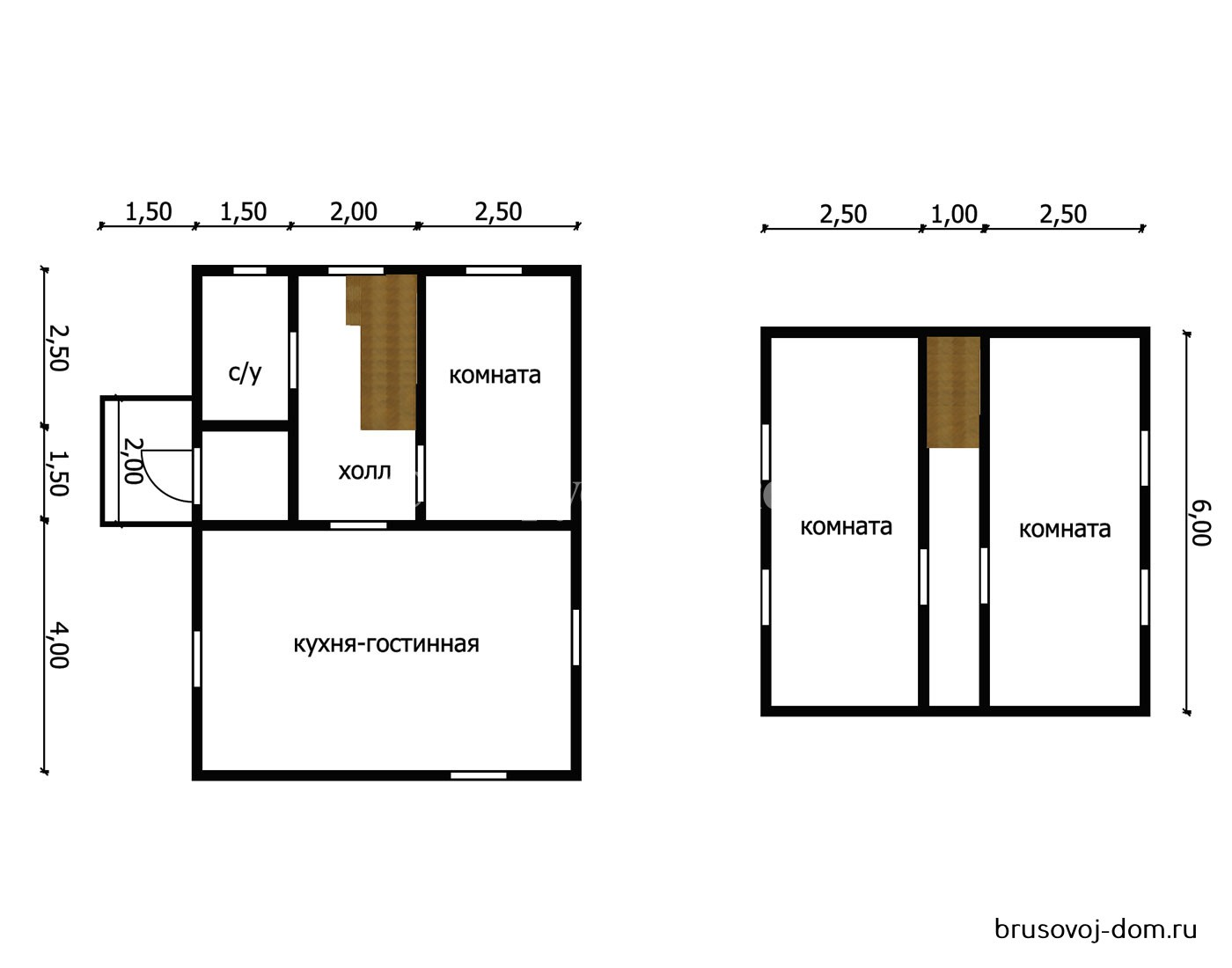 Дом под усадку Отрадное 6х8 м