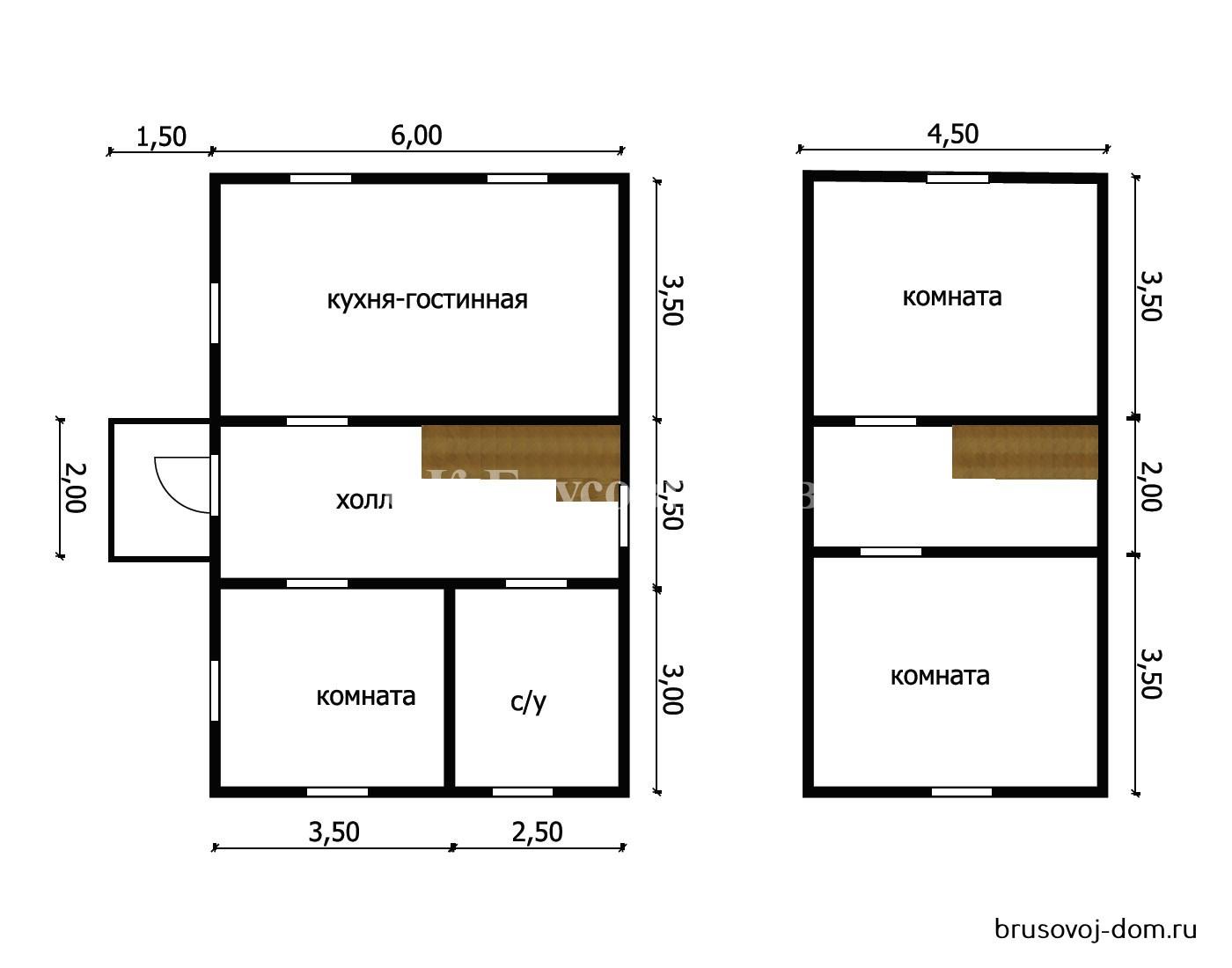 Дом под усадку 6х9 м Подпорожье