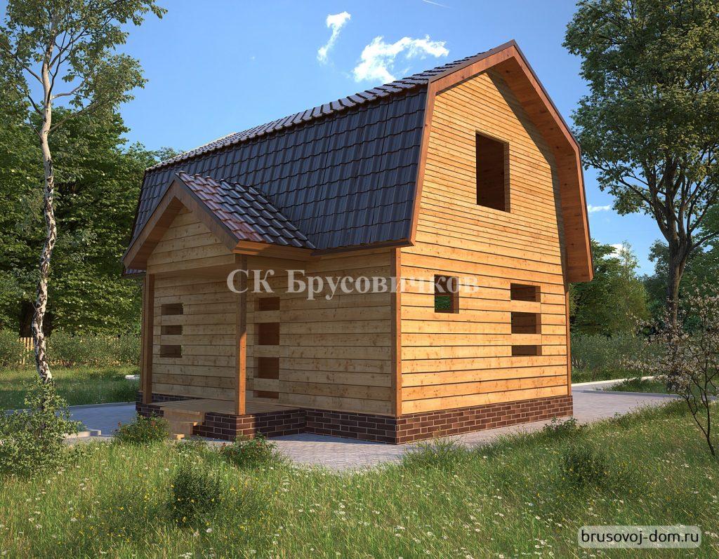 Дом под усадку 6х9 м Приморск
