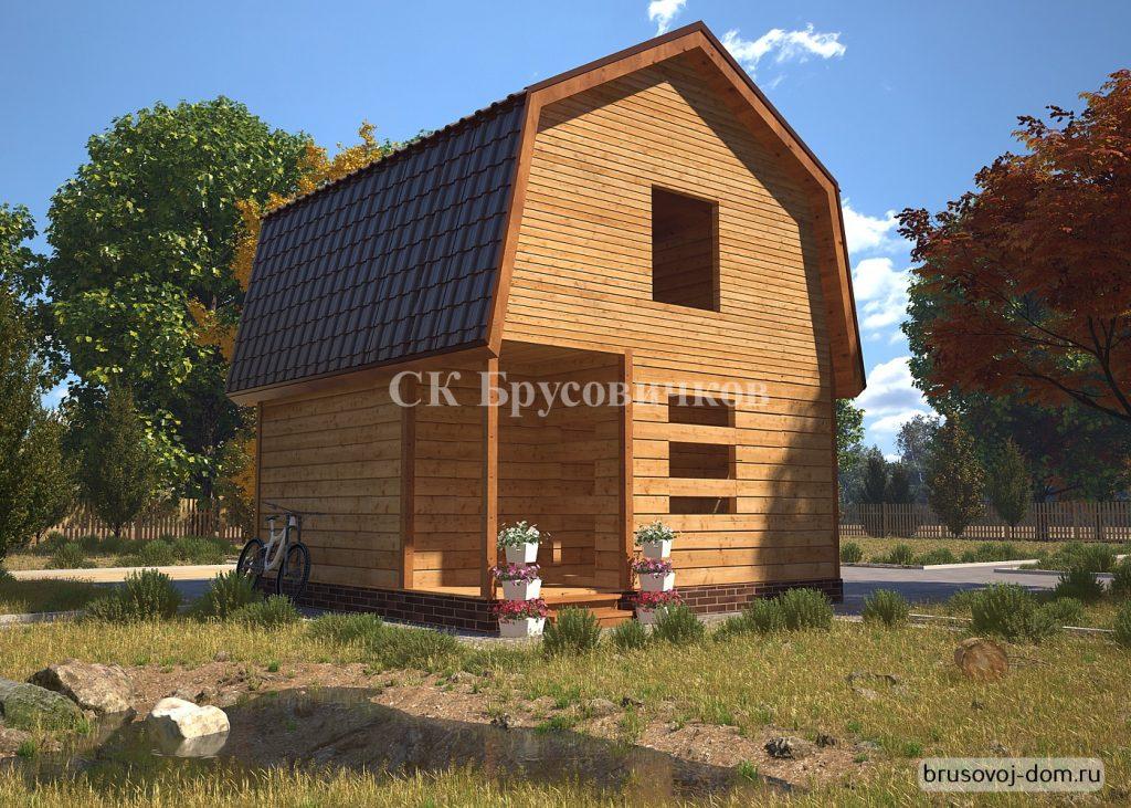 Дом  из бруса 6х6 м под усадку  Светогорск