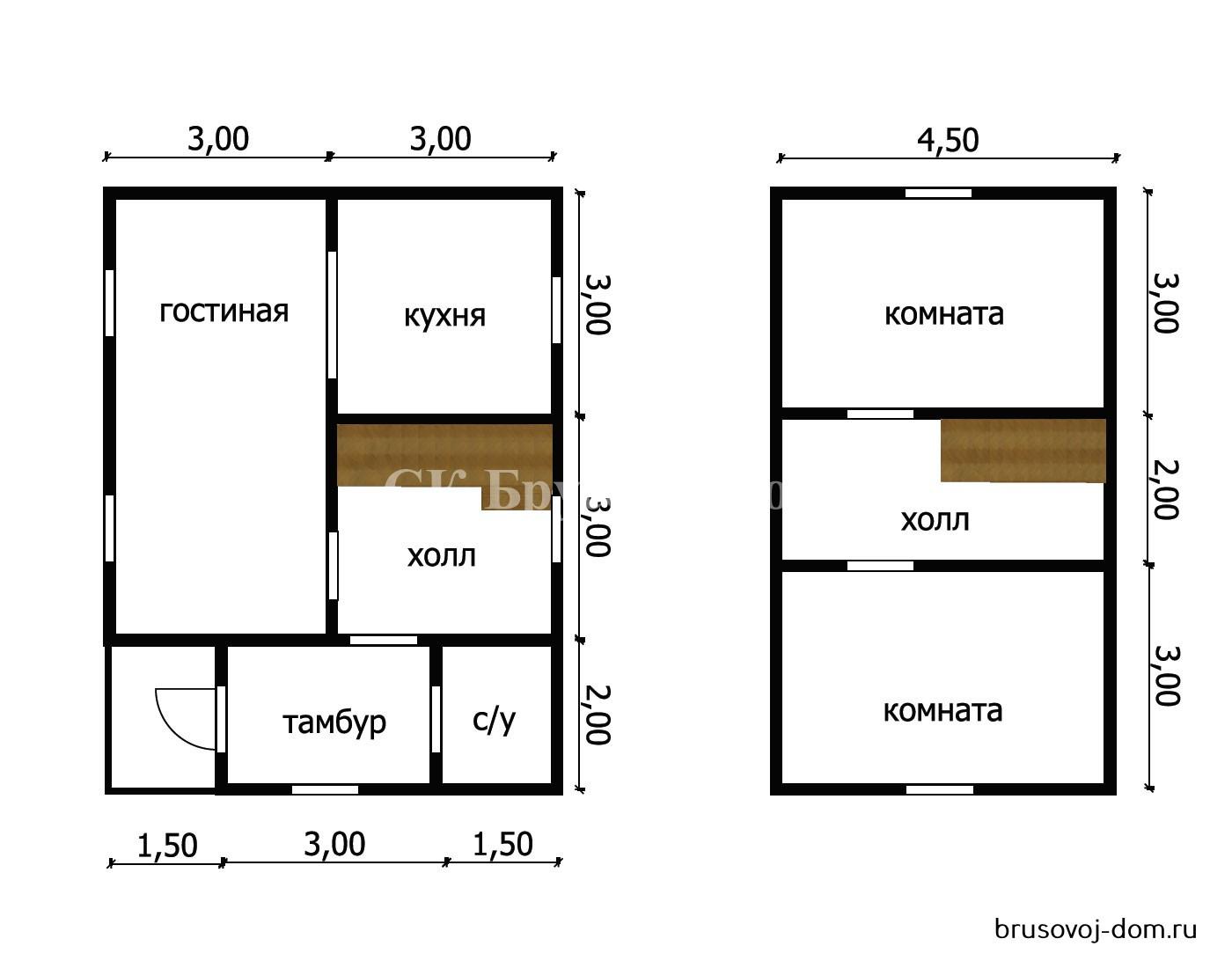 Дом под усадку 6х8 м Вырица