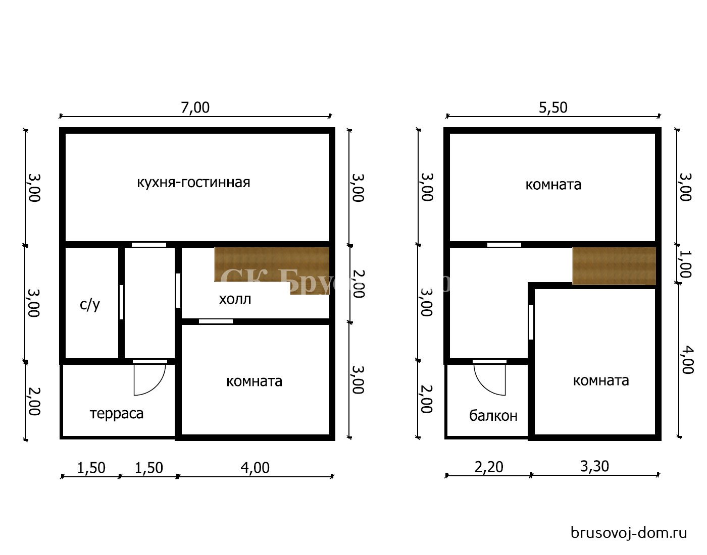 Дом под усадку 7х8 м Кириши не дорого