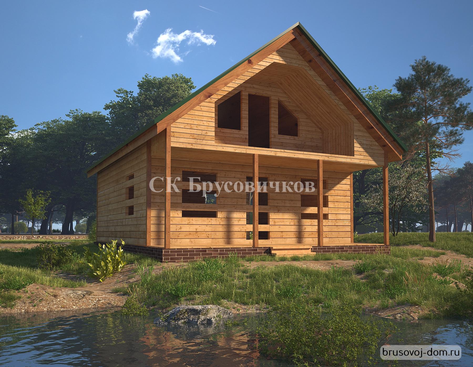Дом из бруса под усадку не дорого Выборг.